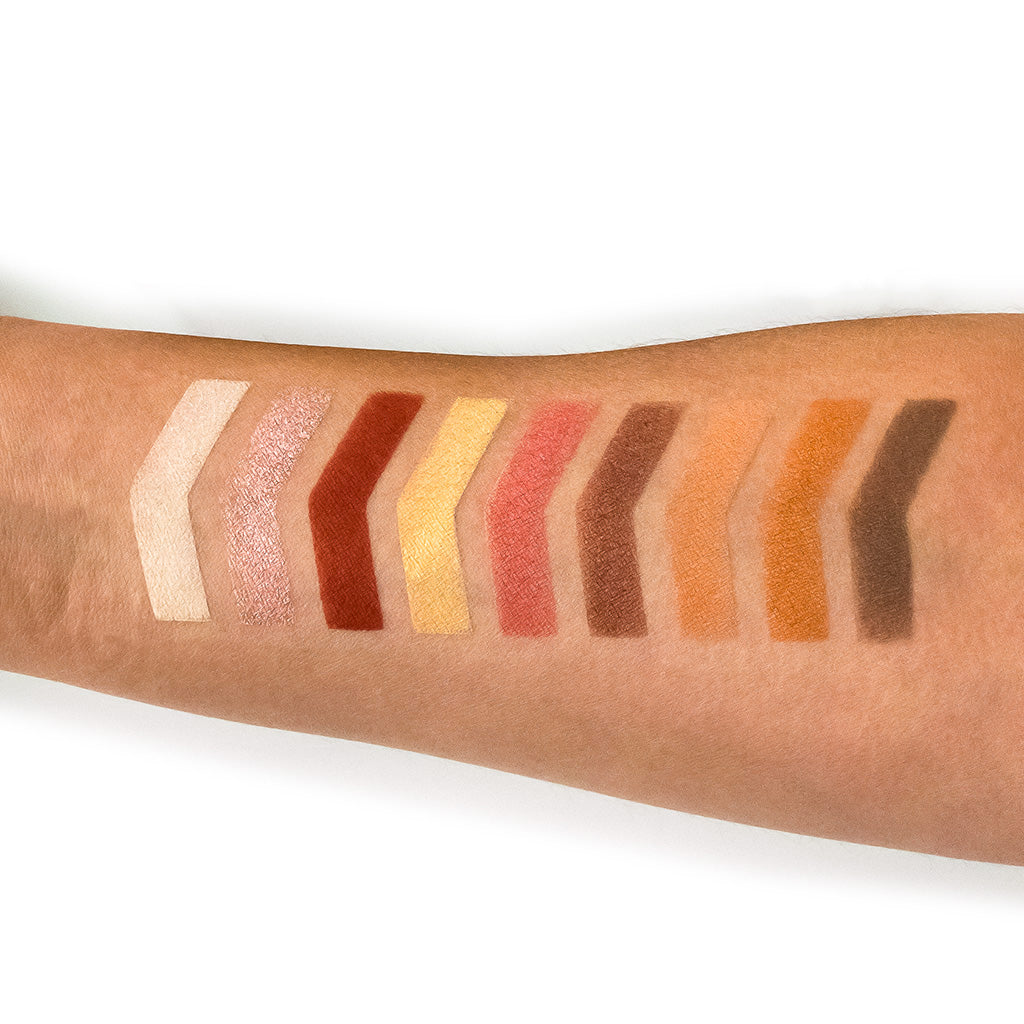NOMAD x Tuscany Intense Eyeshadow Palette Swatches