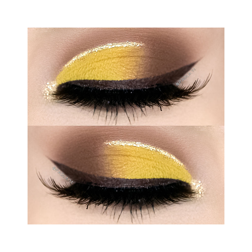 Beauty look created with the NOMAD x Havana Intense Eyeshadow in Tropicana, Matte Light Yellow