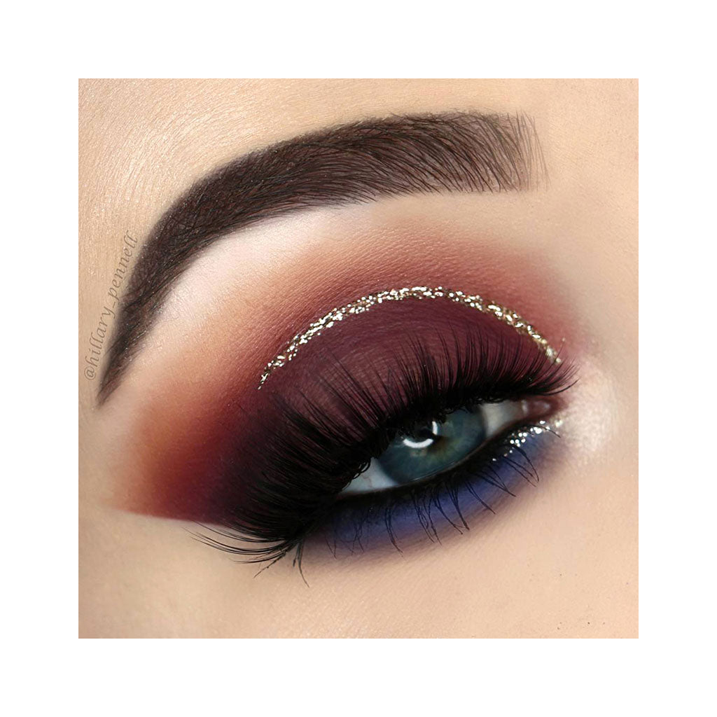 Beauty look created with the NOMAD x Marrakesh Intense Eyeshadow in Suite Aubergine, Matte Deep Plum