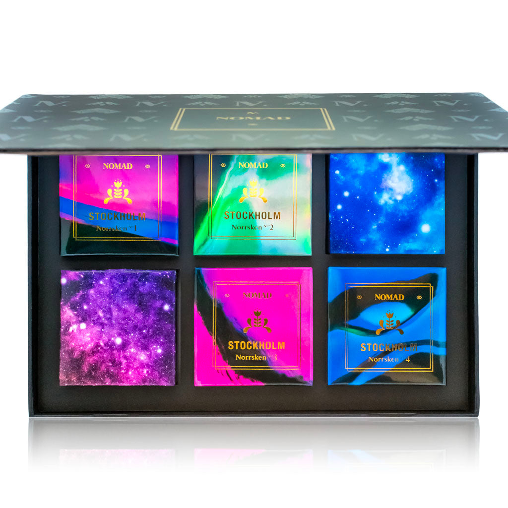 NOMAD Galactic Case with 4 Northern Lights Eyeshadows & 2 Meteor Shower Glitters