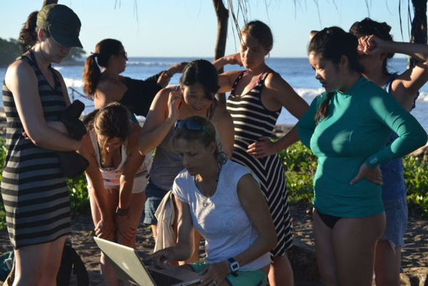 Video coaching with Holly.  Image www.surfwithamigas.com.