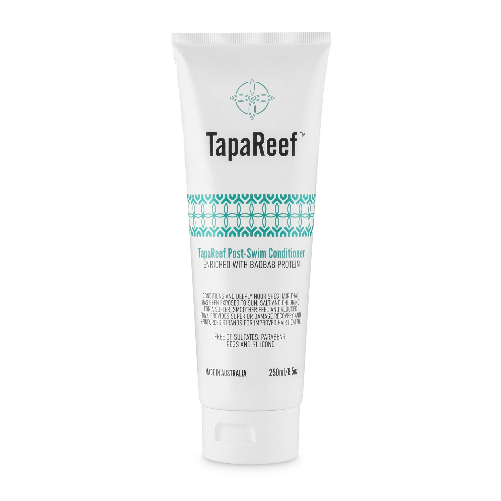 TapaReef Post-Swim Conditioner with Baobab nourishes and repairs hair damaged from sun, salt water and chlorine