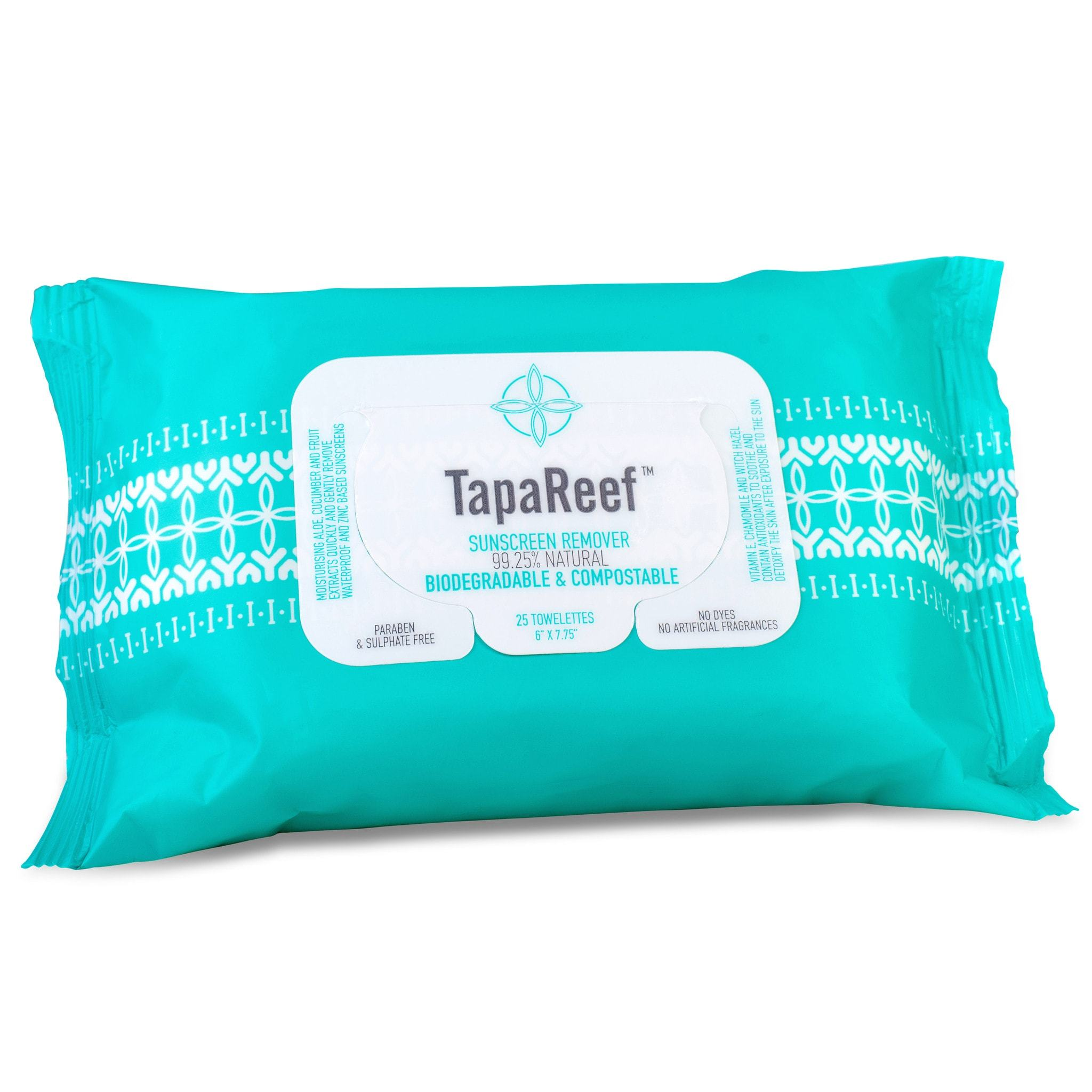 TapaReef Sunscreen Remover Facial Towelettes the gentle and natural way to remove water-resistant and zinc sunscreen