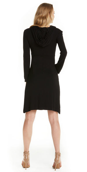 Emery Mermaid Midi Hooded Dress