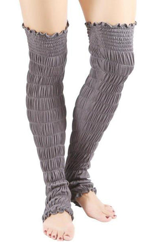 Heather Leg Warmers - Women's Cinched Modal Leg Warmer