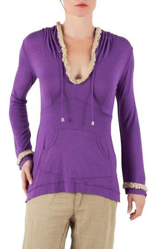 Peggy Fringe Women's Hoodie - Sita Couture