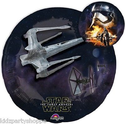 Star Wars The Force Awakens Balloon - 32  Foil Mylar  sc 1 st  Kidz Party Shoppe & Star Wars Party Supplies | Balloons Decorations Favors Tableware ...