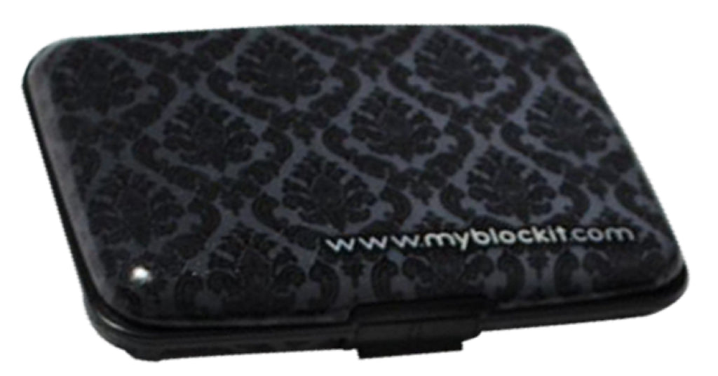 BLOCKIT RFID Wallet Case - (Black Damask)