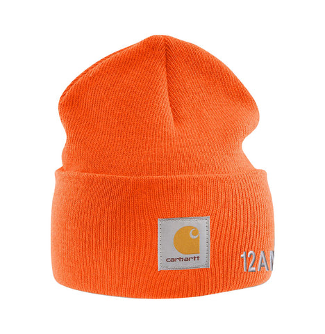 60873da74123c 12amrun x Carhartt Cuff Beanie  Bright Orange