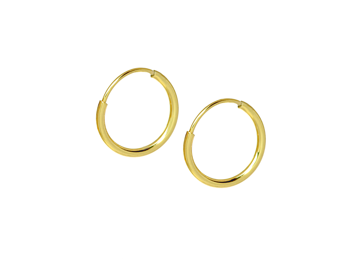 Small Gold Hoop Earrings in14K Yellow Gold - Anny Gabriella NY