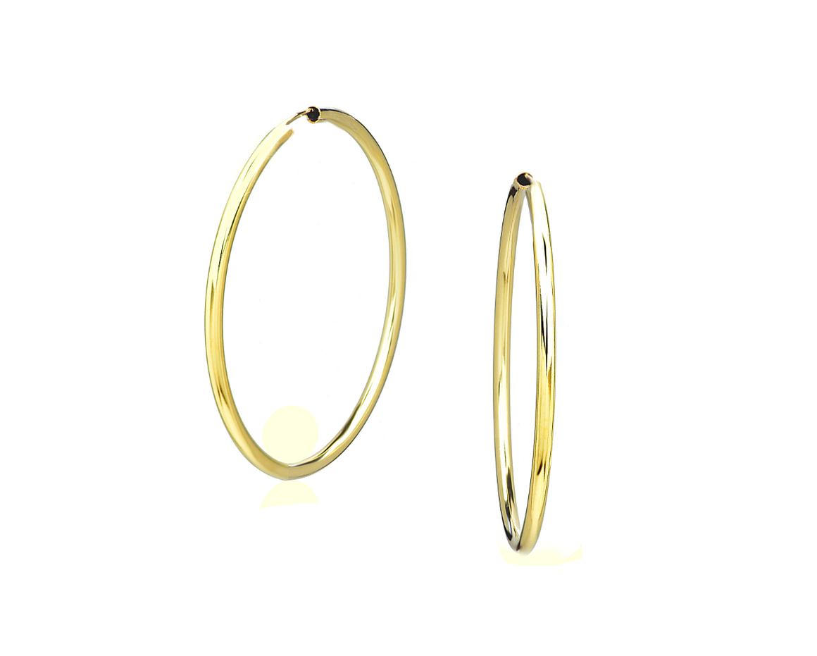 14K Gold Filled Hoop Earrings Large - Anny Gabriella NY