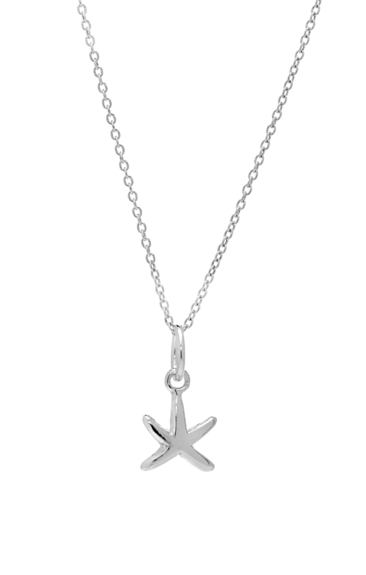 Buy petite starfish pendant necklace in sterling silver at anny small starfish pendant necklace in sterling silver anny gabriella ny aloadofball Choice Image