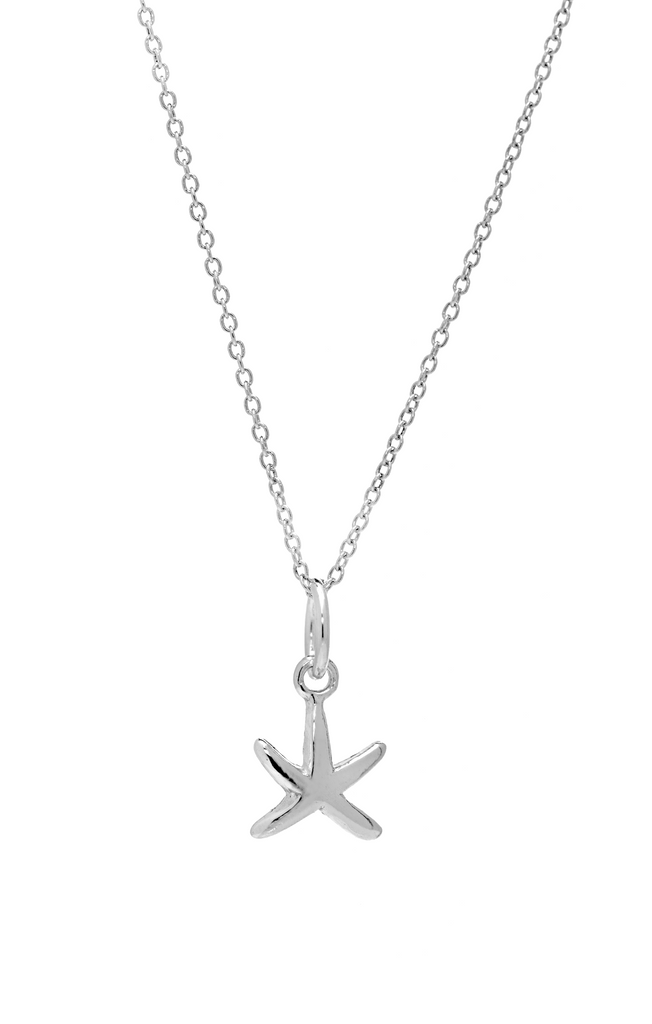 Small Starfish Pendant Necklace in Sterling Silver - Anny Gabriella NY