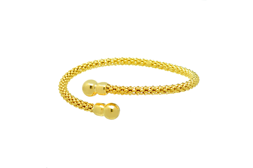 Bypass Bracelet in Gold Plated  Italian Sterling Silver - Anny Gabriella NY