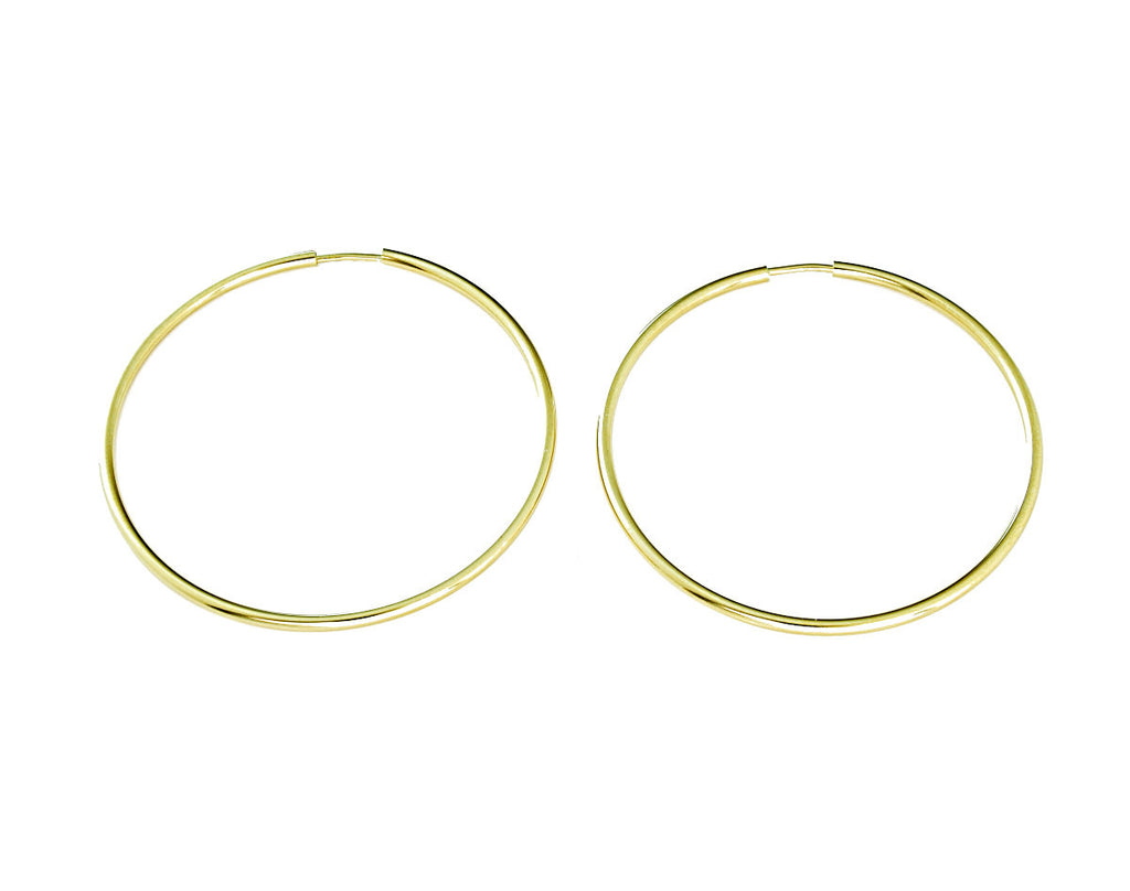Endless Hoop Earrings 14K Gold Medium Large - Anny Gabriella NY