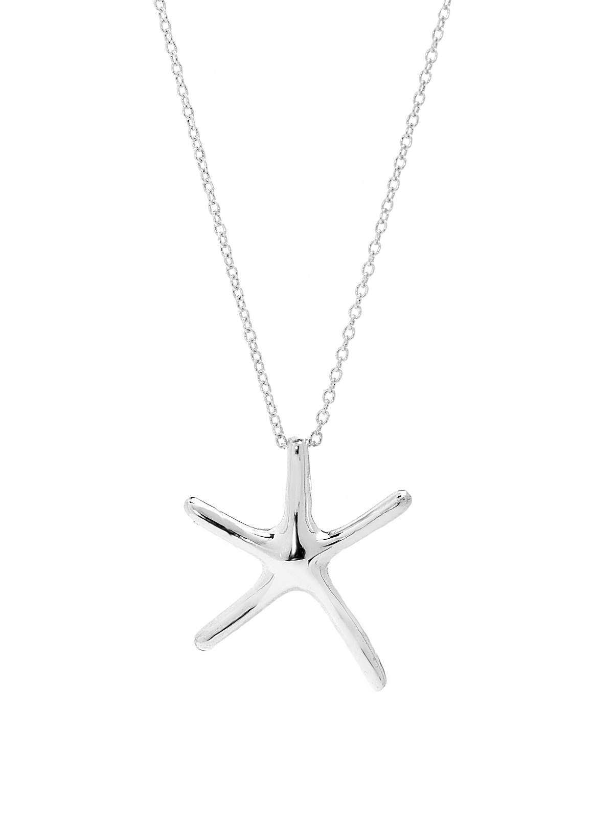 Starfish Pendant Necklace in Sterling Silver - Anny Gabriella NY