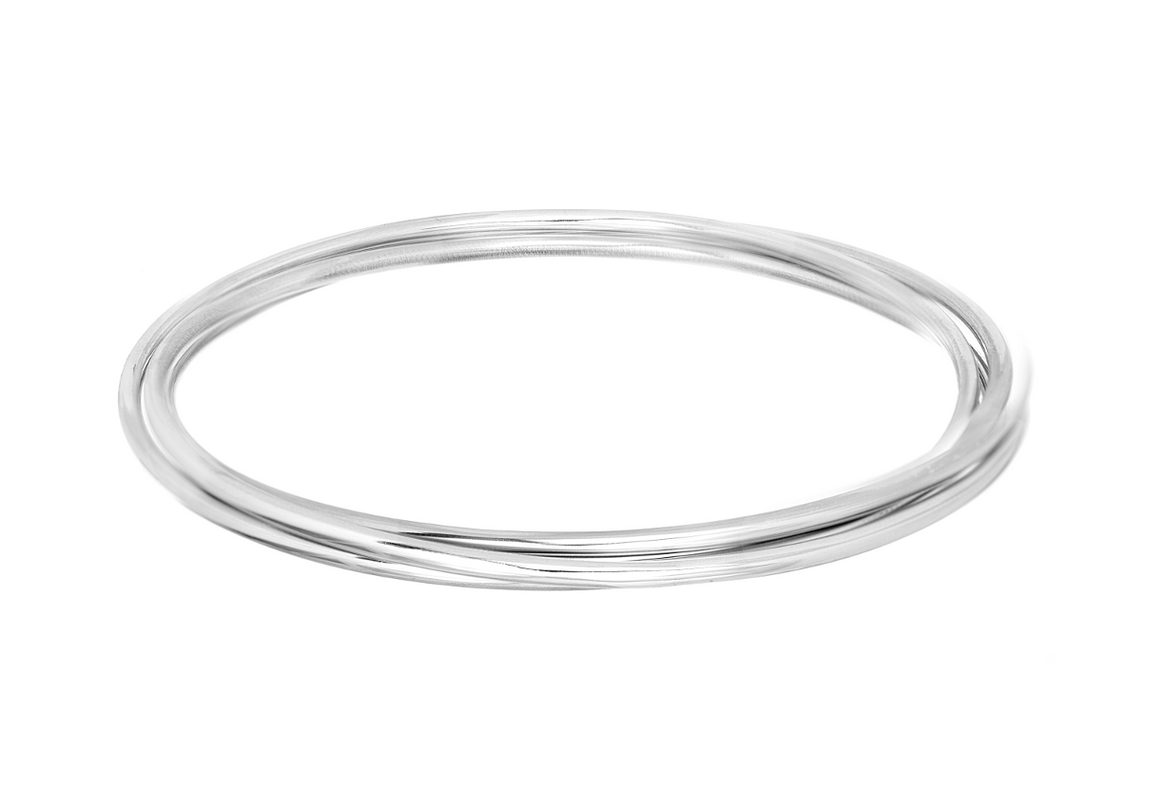 Triple Bangle Bracelet in Sterling Silver - Anny Gabriella NY