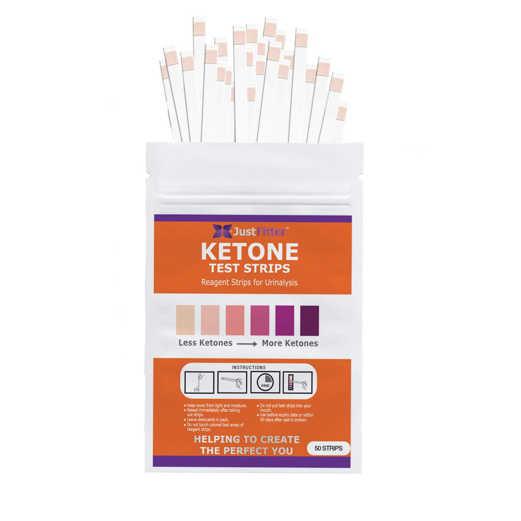 Ketone Test Strips Travel Pack. 50 Strips in a Resealable Pack. Testing Levels of Ketones Suitable for Diabetics, Low Carb, & Fat Burning Dieters.