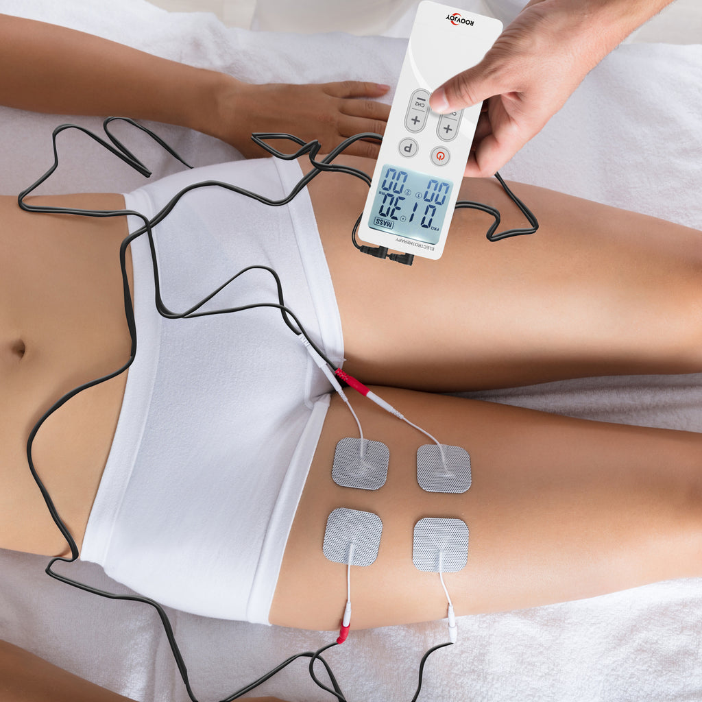 TENS Unit Muscle Stimulator Machine for Pain Relief & Therapy Management