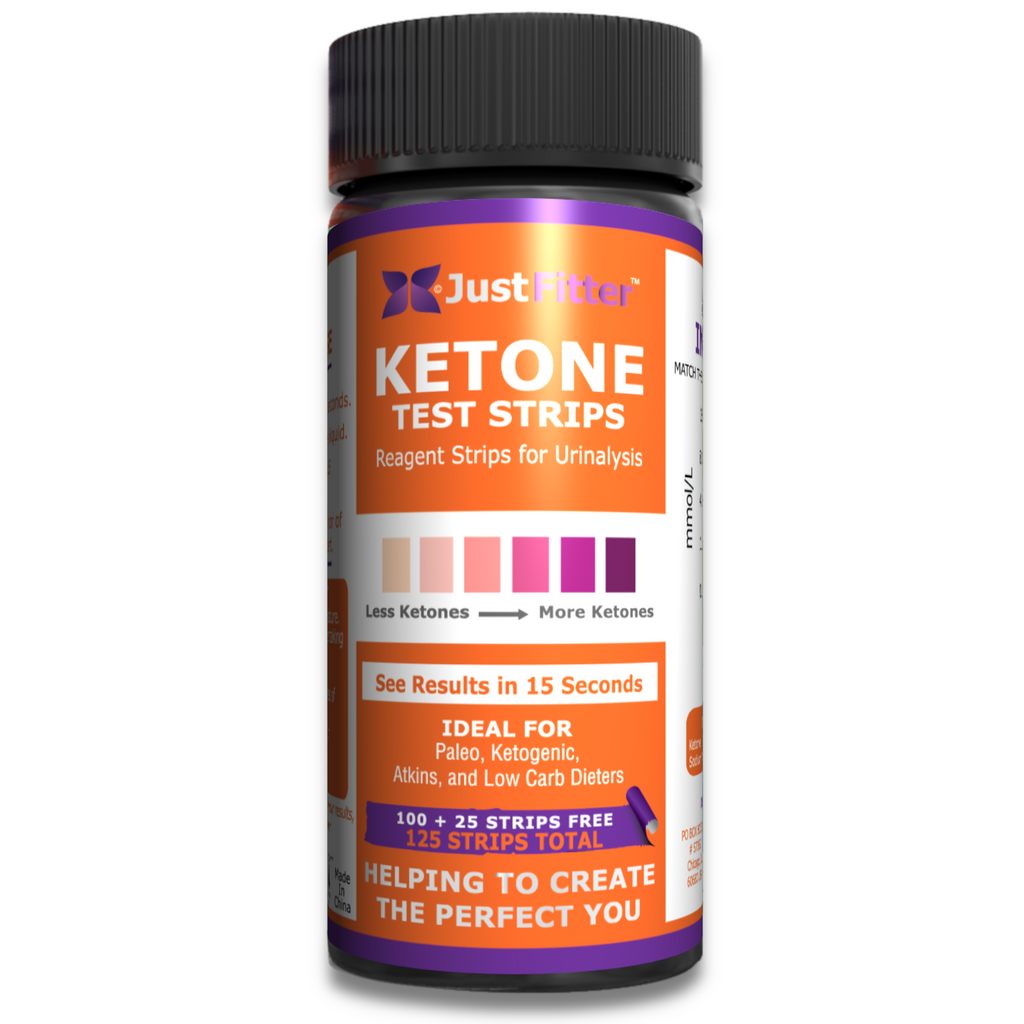 Ketone Test Strips. (100 + 25 free strips). Testing Levels of Ketones Suitable for Diabetics, Low Carb, & Fat Burning Dieters.
