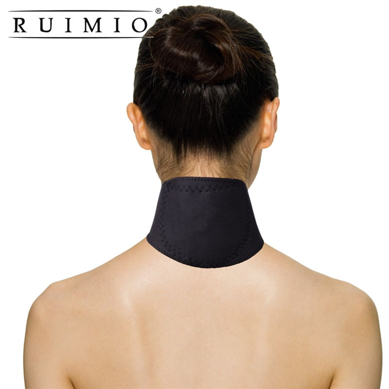 Magnetic Therapy Thermal Self-heating Neck Pad Belt Neck Support Brace Protector Tourmaline Neck Guard Health Support