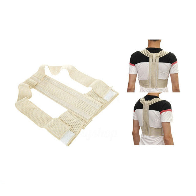 1PCS Magic Stick Hemp Posture Corrector Belt Elasticity Redress Beauty Body Back Brace& Supports Belt For Men Women