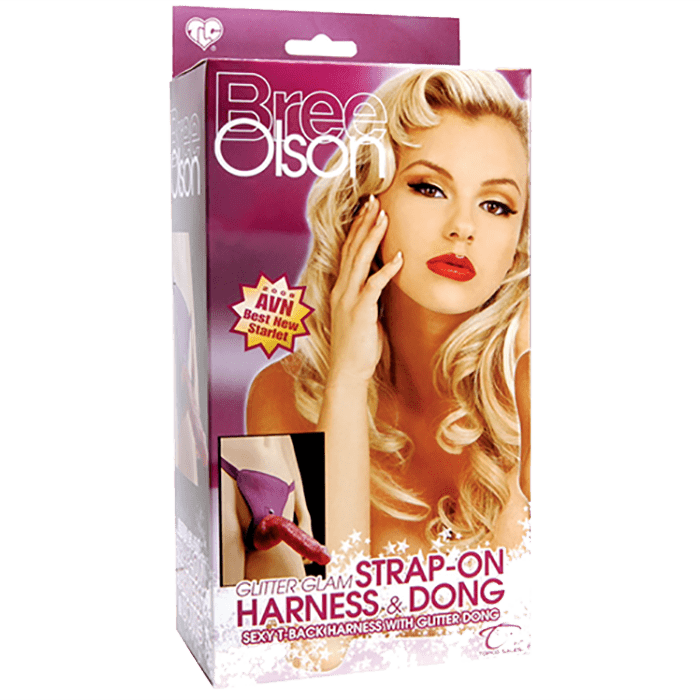 Bree Olson Glitter Glam Strap-On Harness & Dong - Topco Wholesale