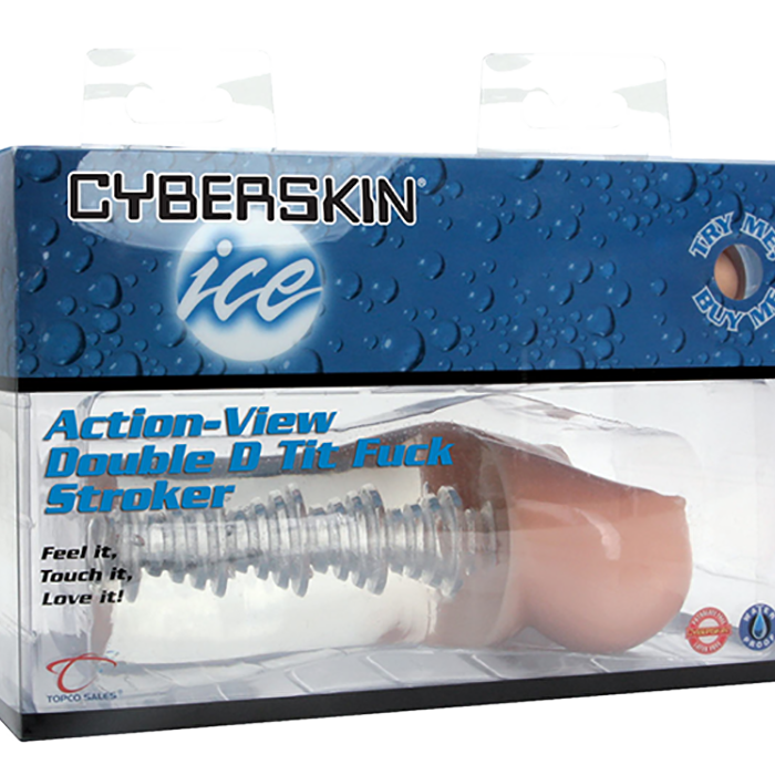 CyberSkin® Ice Action-View Double D Tit Fuck Stroker - Topco Wholesale  - 1