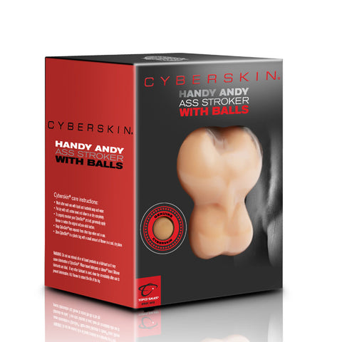 CyberSkin® Handy Andy Ass Stroker with Balls, Light - Topco Wholesale