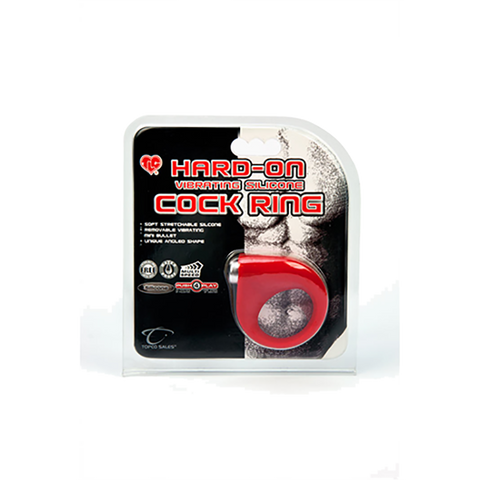 TLC Hard-on Vibrating Silicone Cock Ring - Topco Wholesale