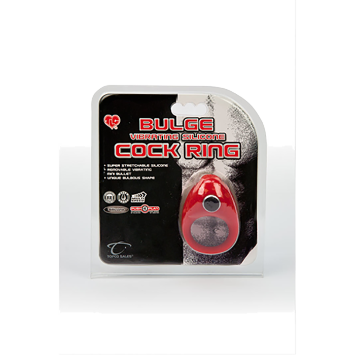 TLC Buldge Vibrating Silicone Cock Ring - Topco Wholesale