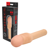 CyberSkin®- 4 inch Xtra Thick Transformer Penis Extension™, Light - Topco Wholesale  - 1