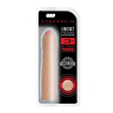 CyberSkin® 3 inch Xtra Uncut Transformer Penis Extension™, Light - Topco Wholesale