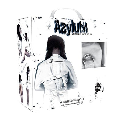 CLOSEOUT - Asylum Patient Straitjacket, S/M - Topco Wholesale