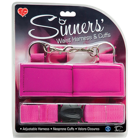 CLOSEOUT - Sinners' Waist Harness and Cuffs - Topco Wholesale