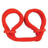 Japanese Silk Love Rope Wrist Cuffs, Red