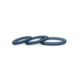 Hombre Snug-Fit Silicone Thin C-Rings, 3 Pk, Navy - Topco Wholesale
