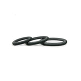 Hombre Snug-Fit Silicone Thin C-Rings, 3 Pk, Charcoal