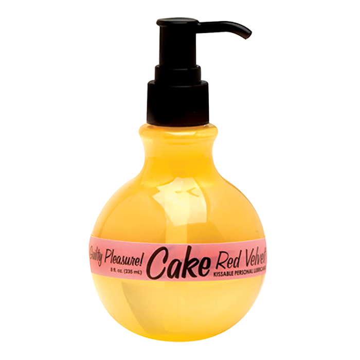 CLOSEOUT - Cake Red Velvet Kissable Personal Lubricant, 8 fl. oz. (235 ml) Bottle - Topco Wholesale