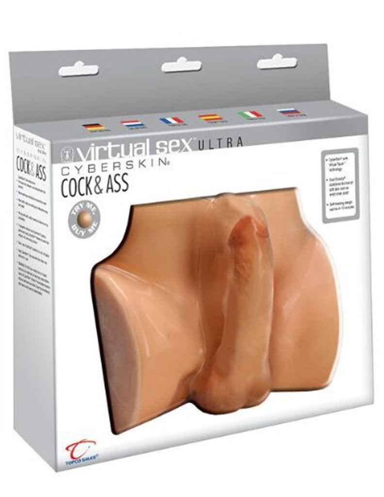 CyberSkin® Virtual Sex Ultra Cock & Ass, Warming & Vibrating - Topco Wholesale  - 1
