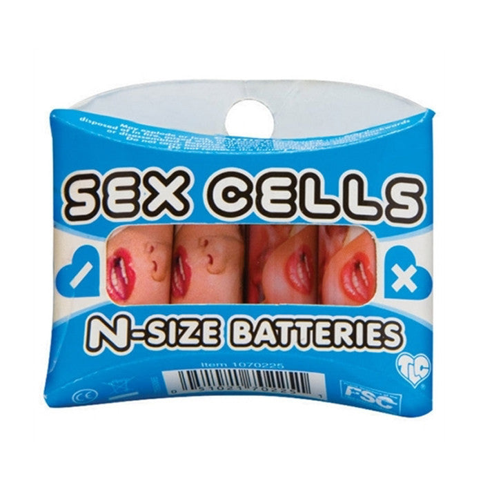 CLOSEOUT - Sex Cells N-Size Batteries, 4 Pack