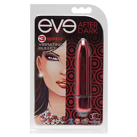 Eve After Dark Vibrating Bullet, Crimson - Topco Wholesale