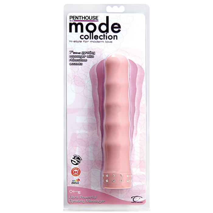 CLOSEOUT - Penthouse® Mode Ultra Powerful Gyrating Massager, Pink - Topco Wholesale