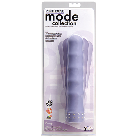 CLOSEOUT - Penthouse® Mode Ultra Powerful Gyrating Massager, Purple - Topco Wholesale