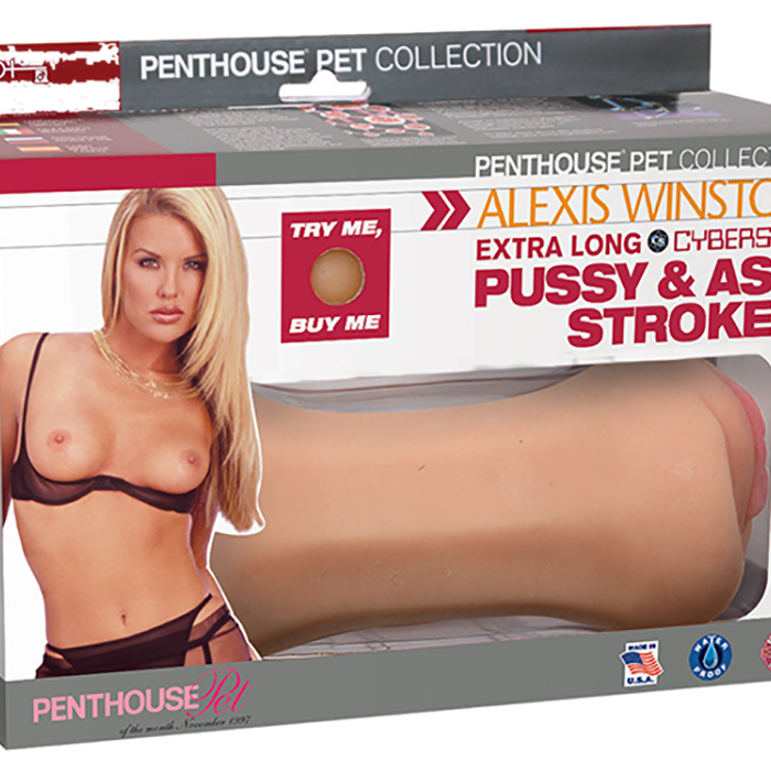 Penthouse® Pet Collection Alexis Winston Extra Long CyberSkin® Pussy & Ass Stroker - Topco Wholesale  - 1