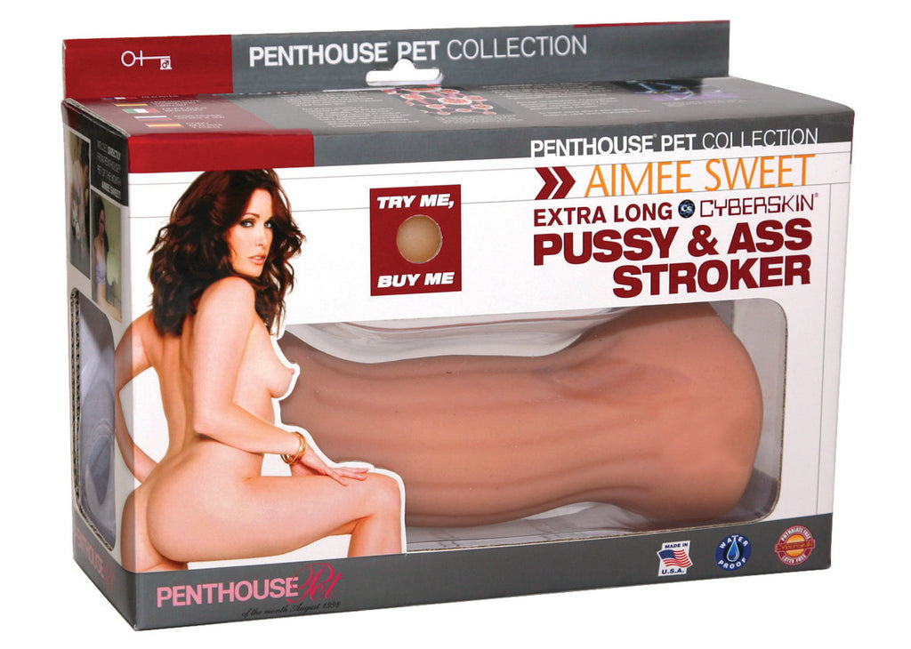Penthouse® Pet Collection Aimee Sweet Extra Long CyberSkin® Pussy & Ass Stroker - Topco Wholesale  - 1