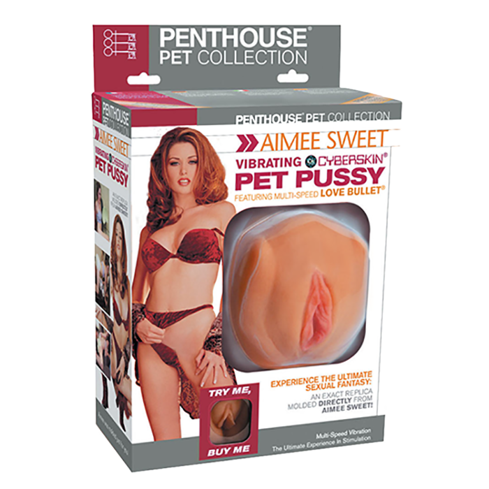 Penthouse® Pet Collection Aimee Sweet Vibrating CyberSkin® Pet Pussy - Topco Wholesale  - 1