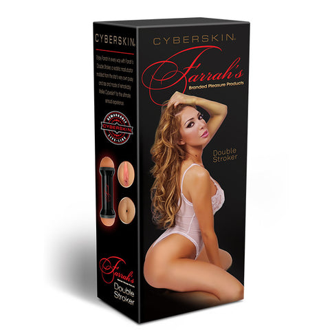 CyberSkin® Celebrity Series Farrah's Double-Ended Stroker - Topco Wholesale  - 1