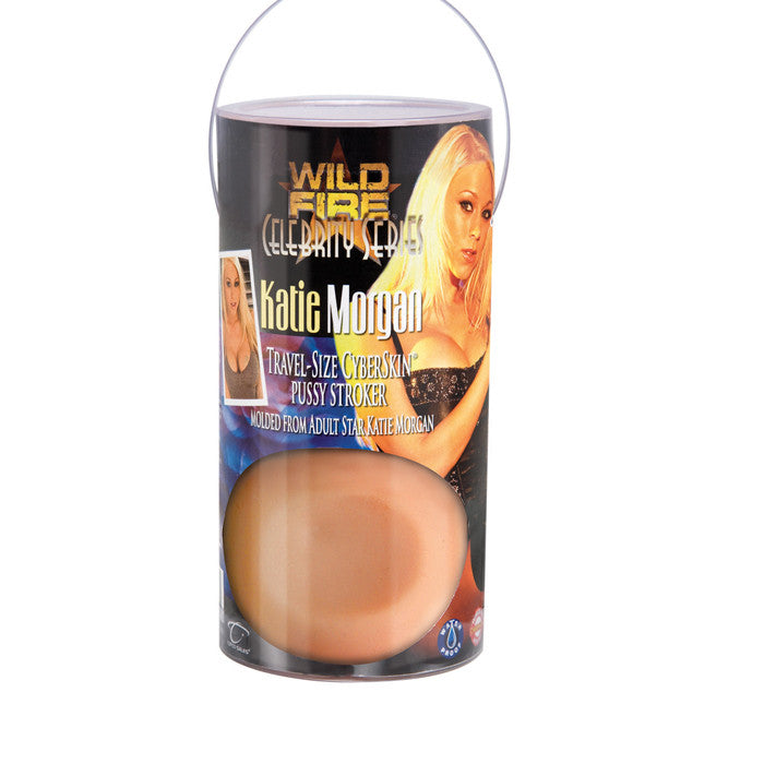 Wildfire Celebrity Series Katie Morgan Travel-Size CyberSkin Pussy Stroker - Topco Wholesale  - 1