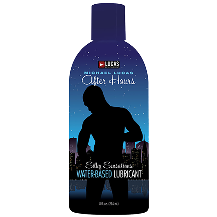 Closeout- Lucas Entertainment After Hours Silky Sensations Water Based Lubricant, 8 fl. oz. (236 mL) Bottle - Topco Wholesale  - 1